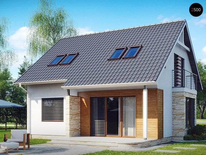 Двухэтажный дом с мансардой (41 фото): кирпичный или деревянный вариант с балконом, дизайн коттеджа из пеноблоков с мансардной крышей, каркасный дом из бруса