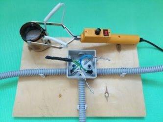 Примеры соединения проводов в домашней проводке