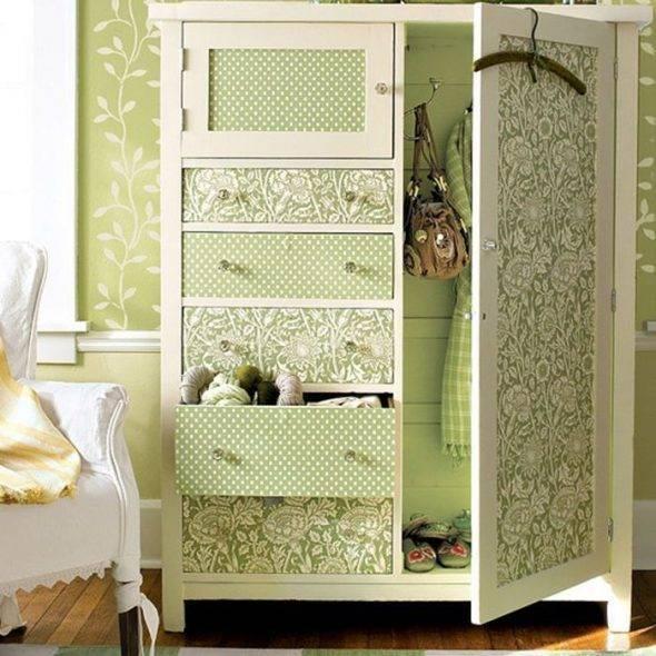 Как обновить старый шкаф: реставрация, переделка шкафа своими руками, нестандартные идеи - фото