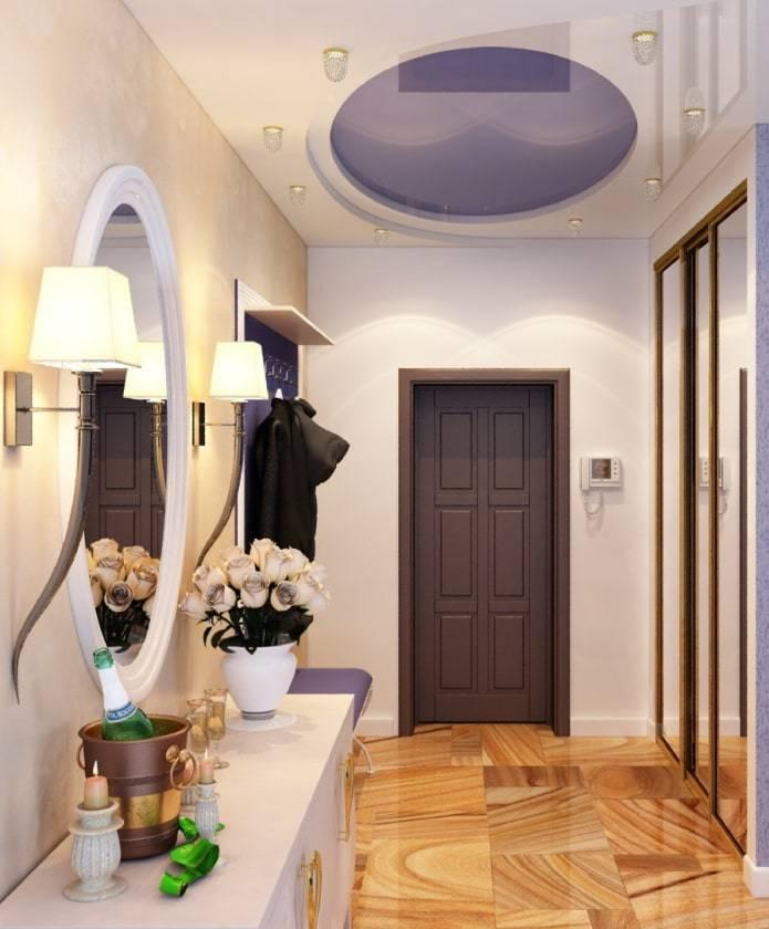 Черно-белые натяжные потолки - применение в интерьере, фото