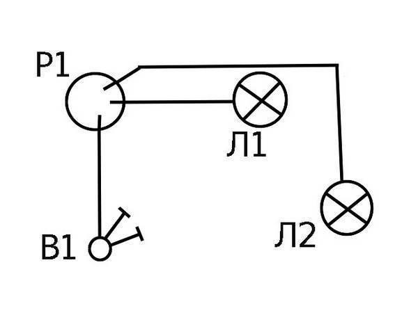 Как подключить двойной выключатель на две лампочки (двухклавишный): схема и видео подключения