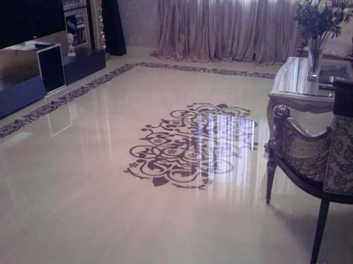 Наливной пол в ванной комнате - преимущества, недостатки и особенности