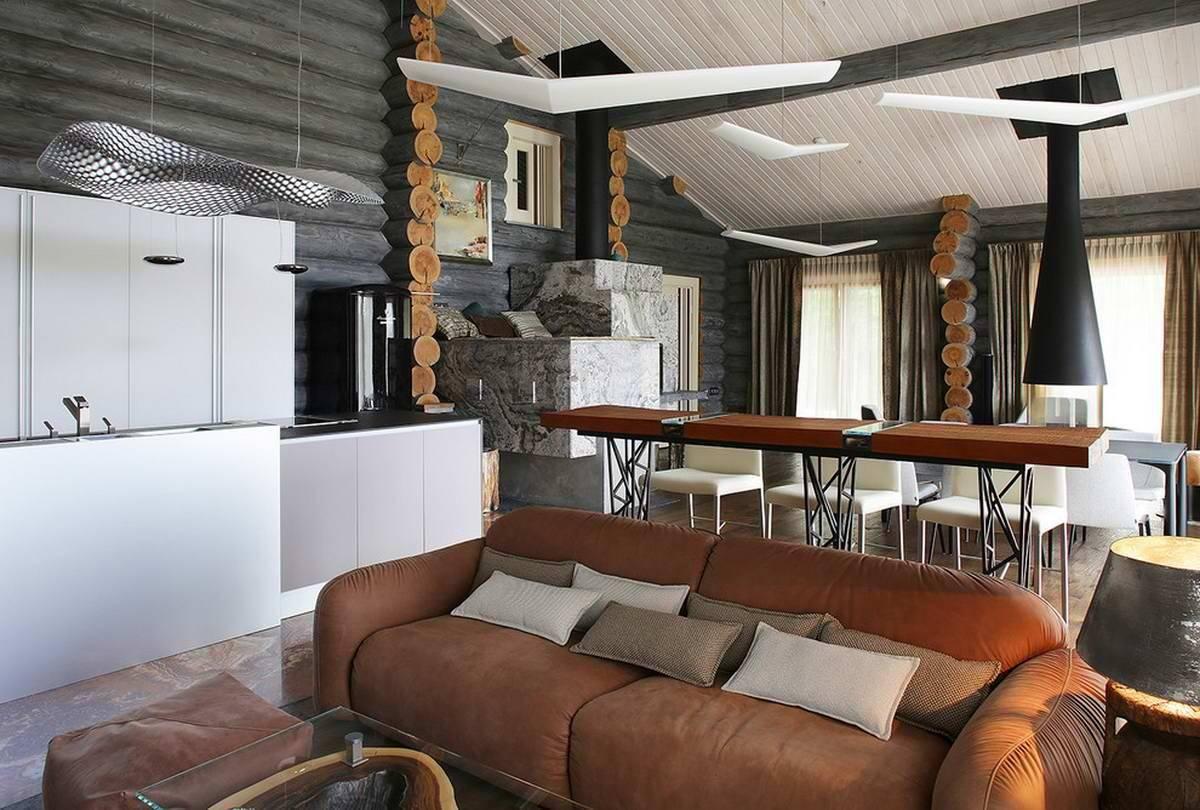Интерьер деревянного дома - 30 красивых и стильных фото