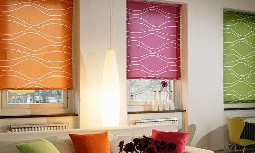 Рулонные шторы снизу вверх на пластиковые окна: особенности