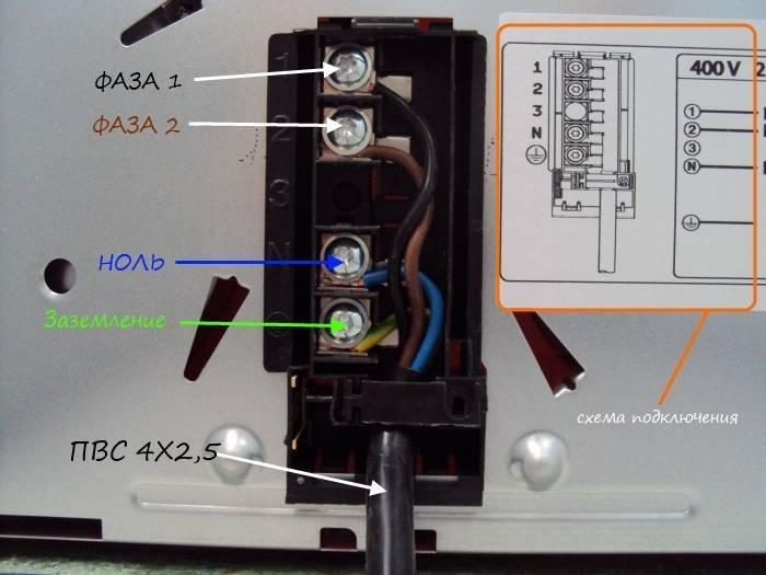 Подключение варочной панели к электросети: инструкция