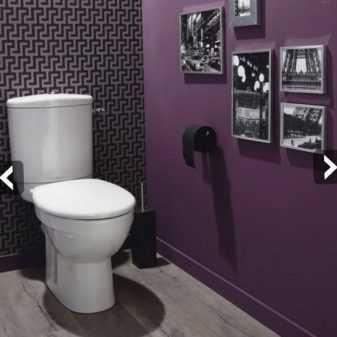 Обои в туалете: фото интерьеров, выбор материалов