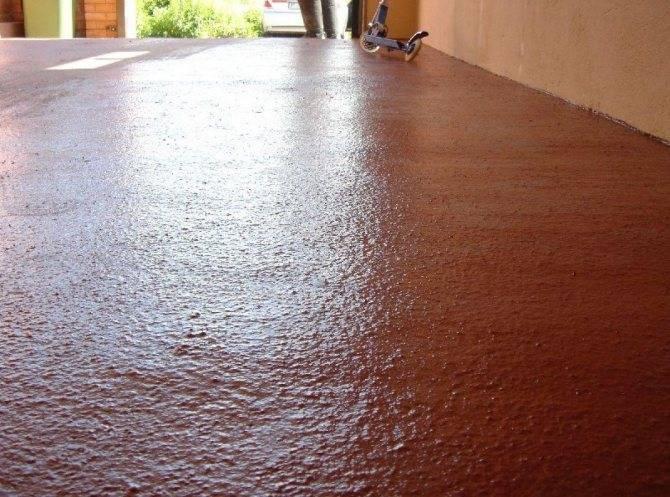 Чем покрасить бетонный пол в гараже чтобы не пылил: виды покрытий, технология нанесения