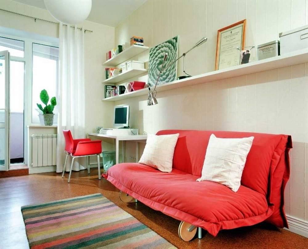 Красный диван, плюсы и минусы, популярные оттенки, критерии выбора