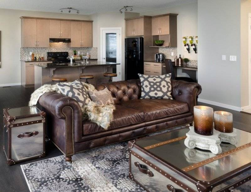 Существующие варианты кожаной мебели, правила ухода