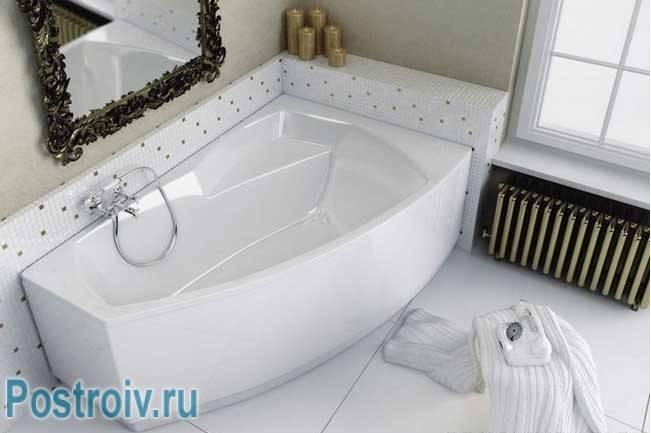 Установка акриловой ванны своими руками: обзор 4-х способов монтажа