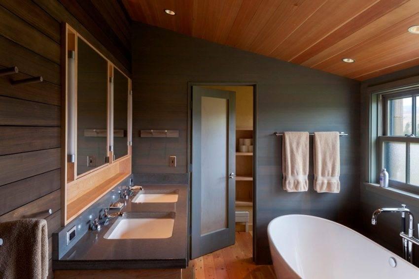 Реечные потолки для ванной комнаты: преимущества и недостатки (+8 фото)