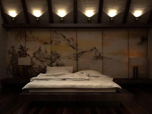 Дизайн спальни в японском стиле -