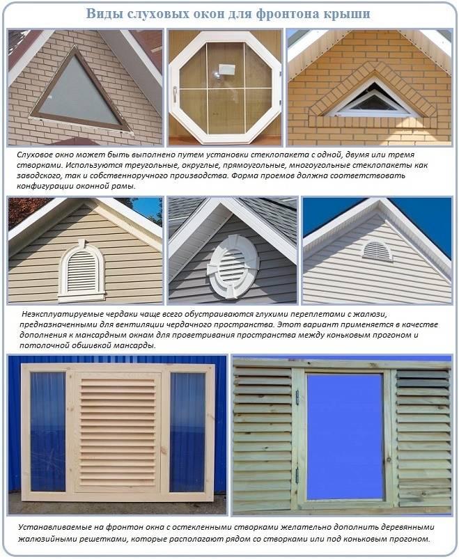 Слуховое окно на крыше: конструкция, чертеж, советы профессионалов, видео