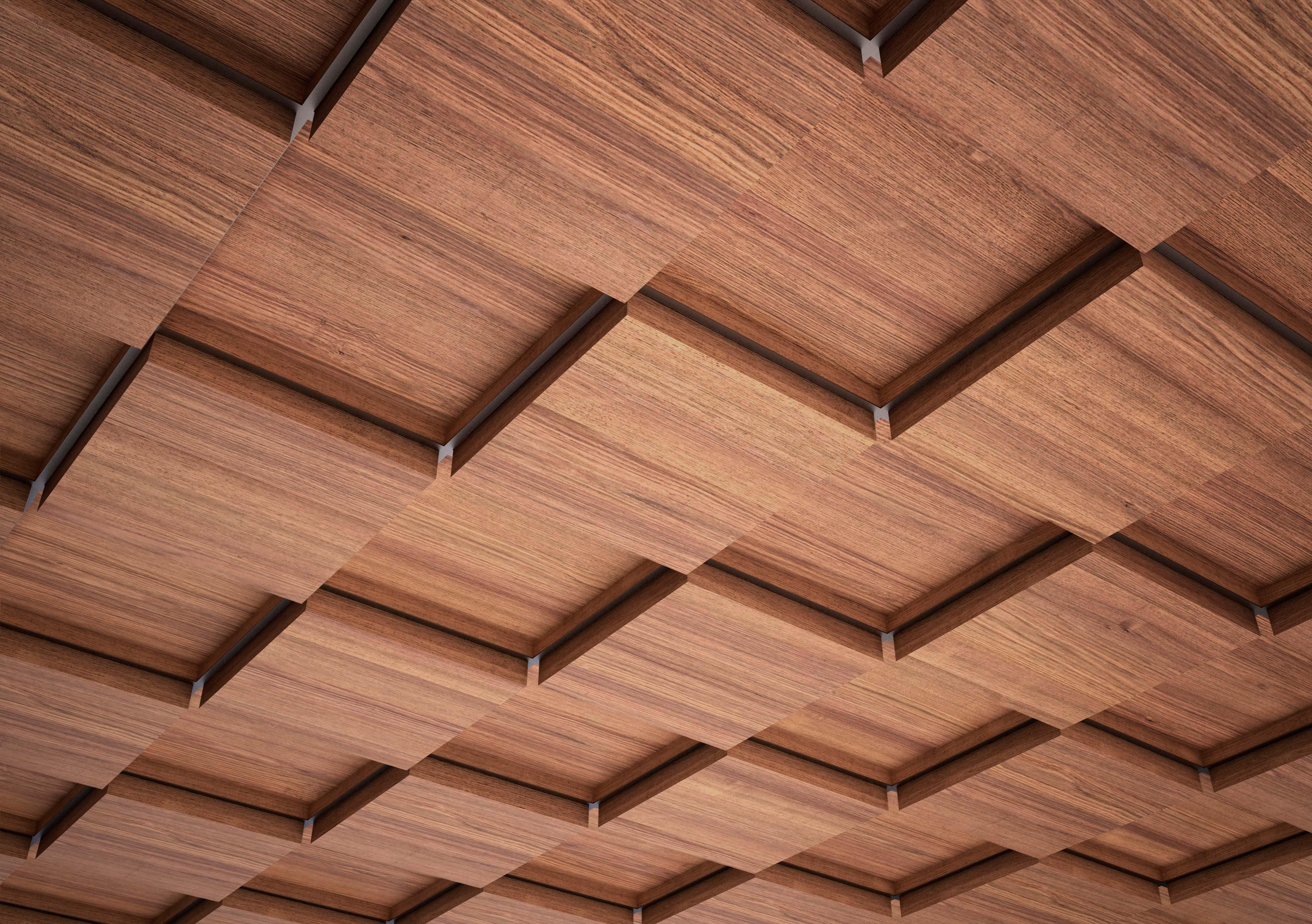 Подвесной потолок грильято: характеристики и свойства