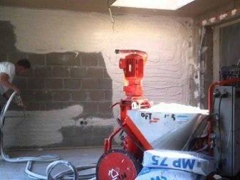 Механизируемая штукатурка (57 фото): машинная технология и механическое нанесение на стены