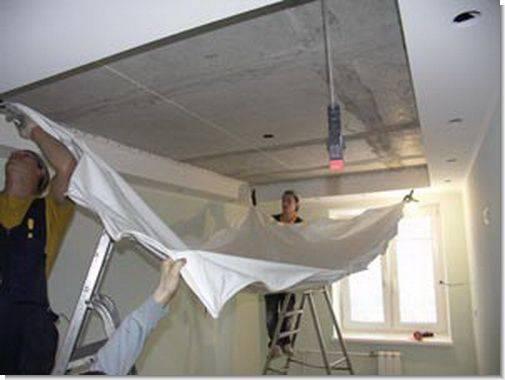 Как крепятся натяжные потолки: технология обустройства