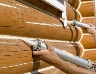 Герметизация швов деревянного дома: процесс утепления, материалы
