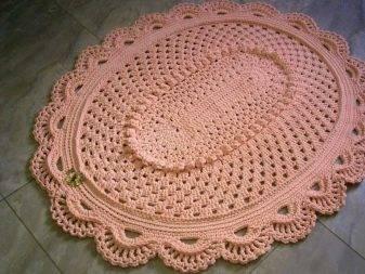 Вязаные ковры крючком из шнура. схемы ковров «великолепный» и «овальный»