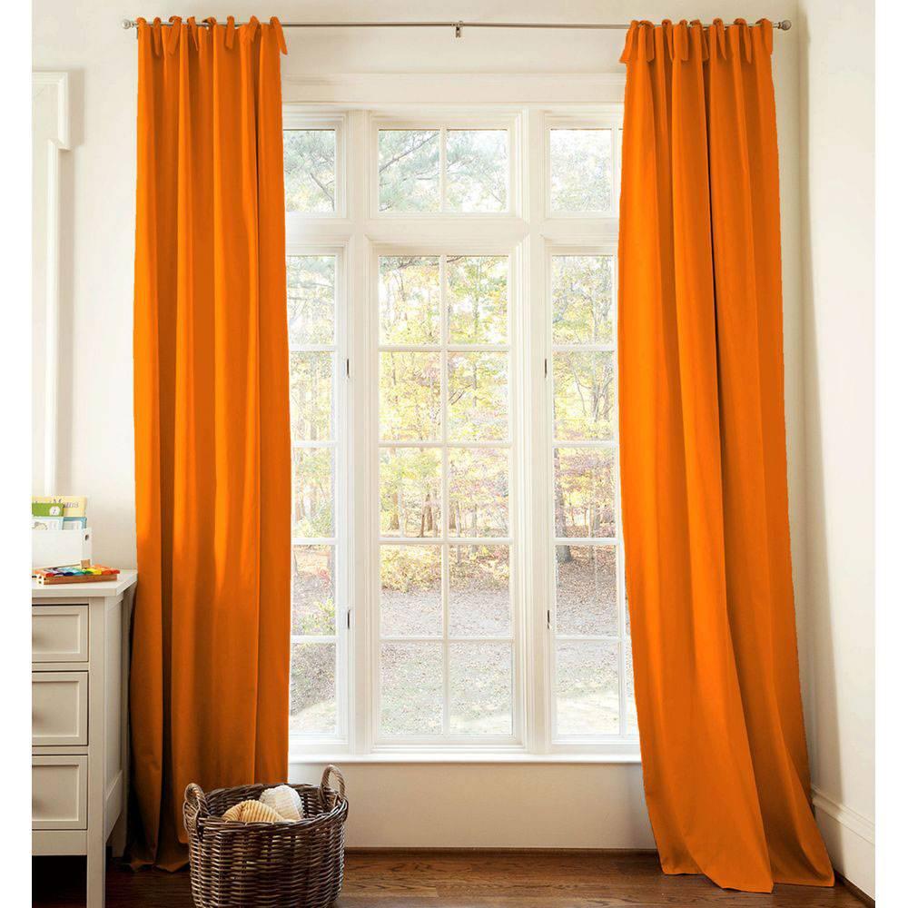 Оранжевые шторы — 1 фото красивых сочетаний и ярких идей применения оранжевого при оформлении интерьера