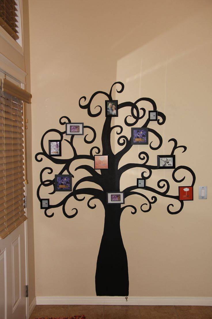 Дерево на стене в интерьере: как нарисовать своими руками, как сделать деревянный декор в детской, картинки, фото