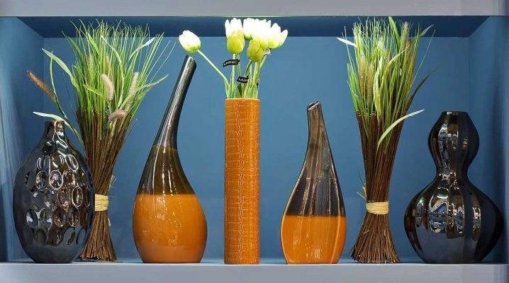 Напольные вазы для интерьера, какие бывают по форме и размеру