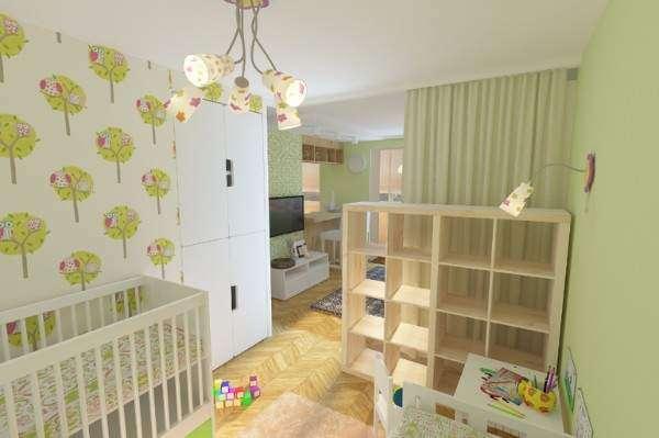 Зонирование однокомнатной квартиры для семьи с ребенком (34 фото): как отделить детскую зону? как разделить комнату на пространство для взрослых и детей?