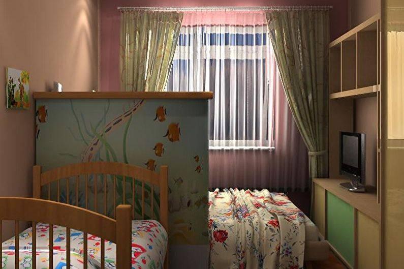 Спальня и детская в одной комнате: освещаем суть