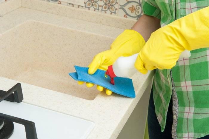 Чем отмыть раковину из искусственного камня: как чистить и чем мыть, средства для чистки, как очистить и как ухаживать в домашних условиях, особенности ухода и мытьё светлой каменной раковины