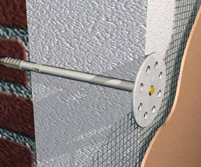 Виды крепления пенопласта к стене, правила монтажа