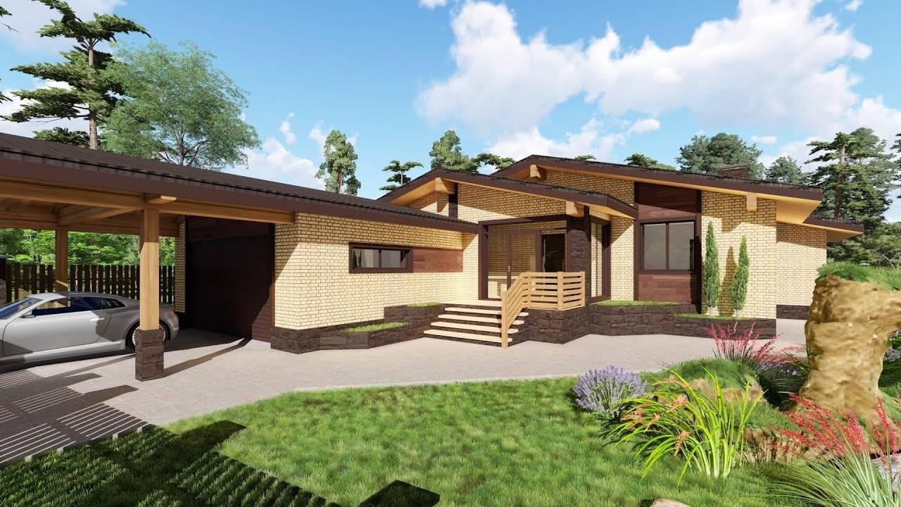 Проекты одноэтажных домов с террасой цены под ключ, проекты в москве