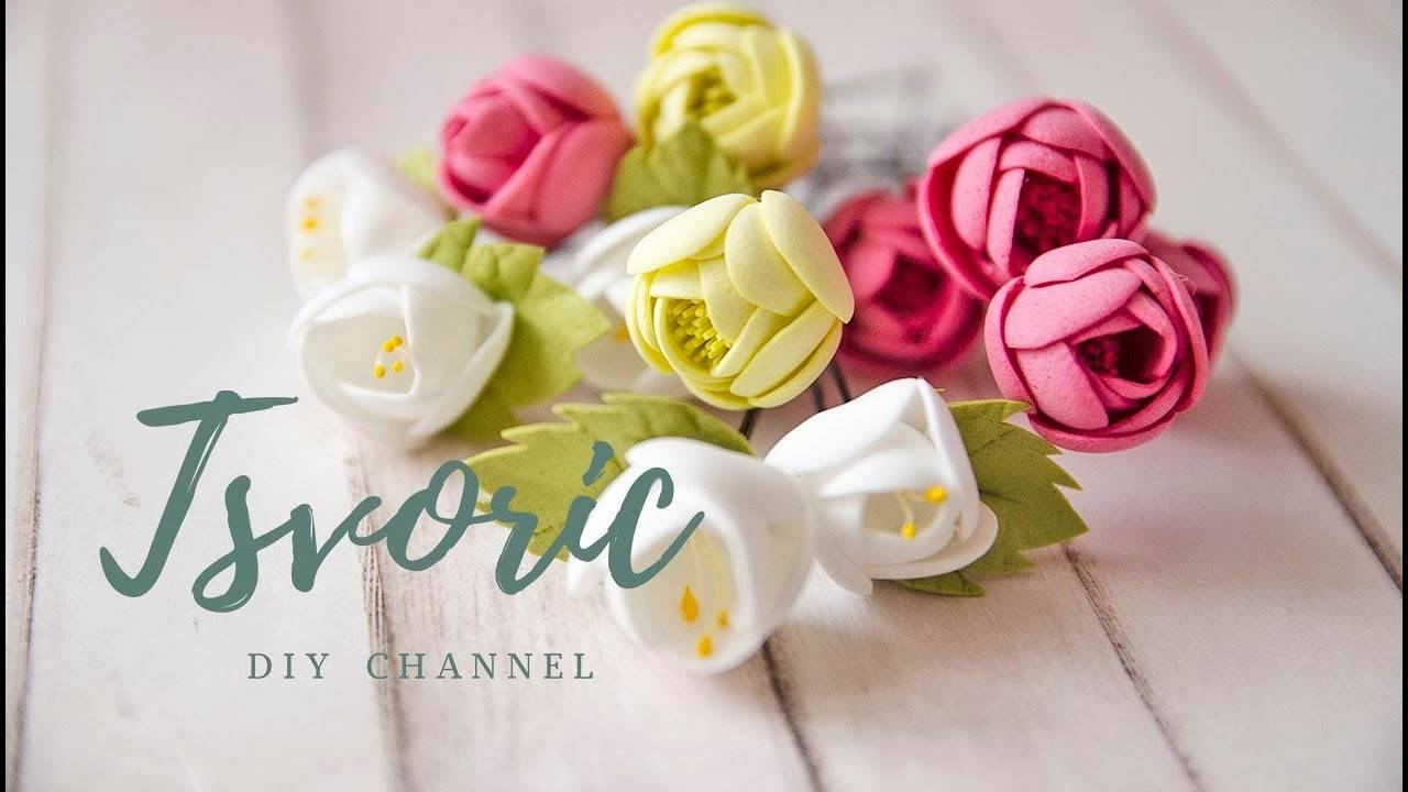 Розы из фоамирана — большие и маленькие: 150+ (фото) с пошаговой инструкцией. 7 детальных мастер-класса для начинающих
