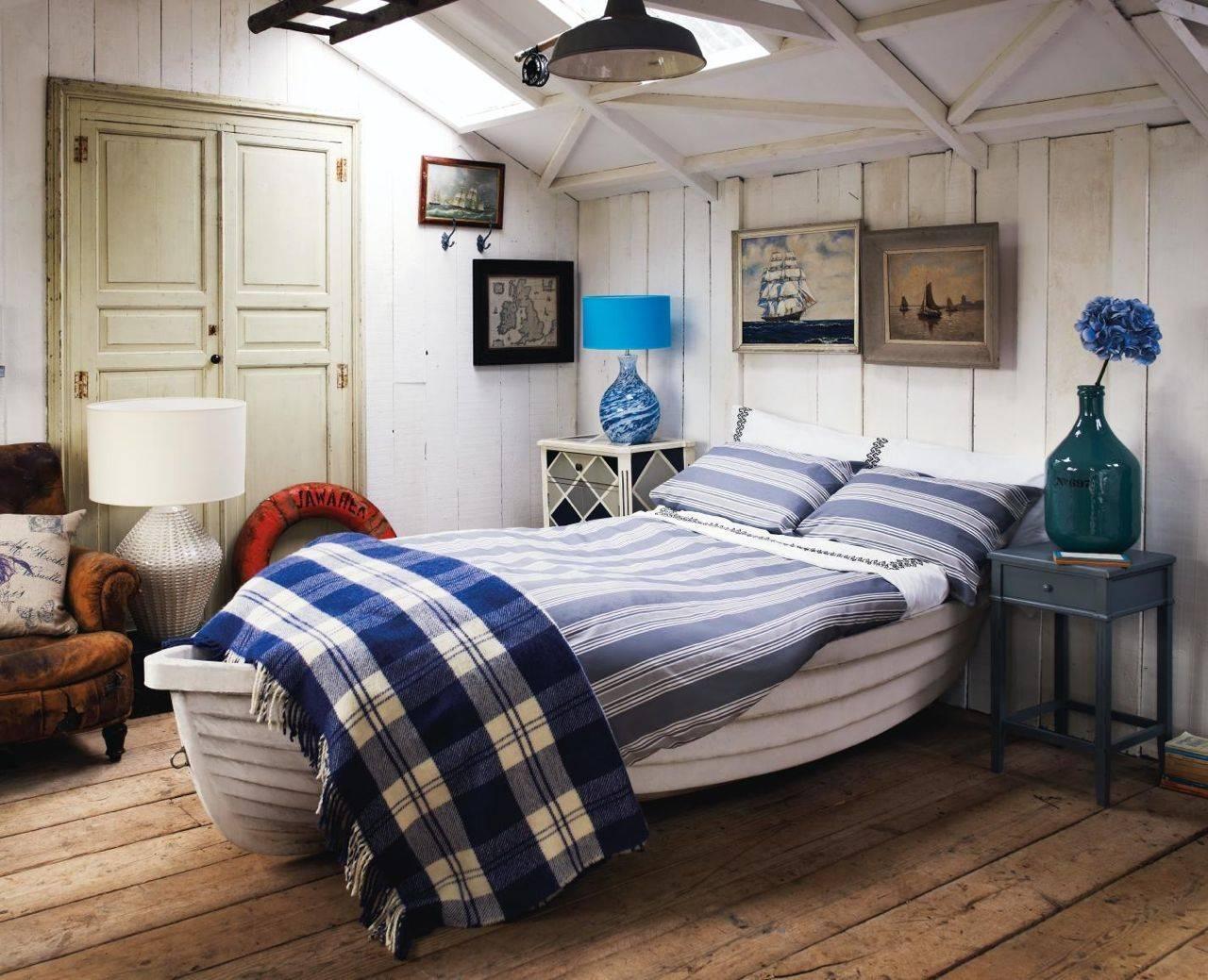 Беззаботный морской стиль в оформлении комнат