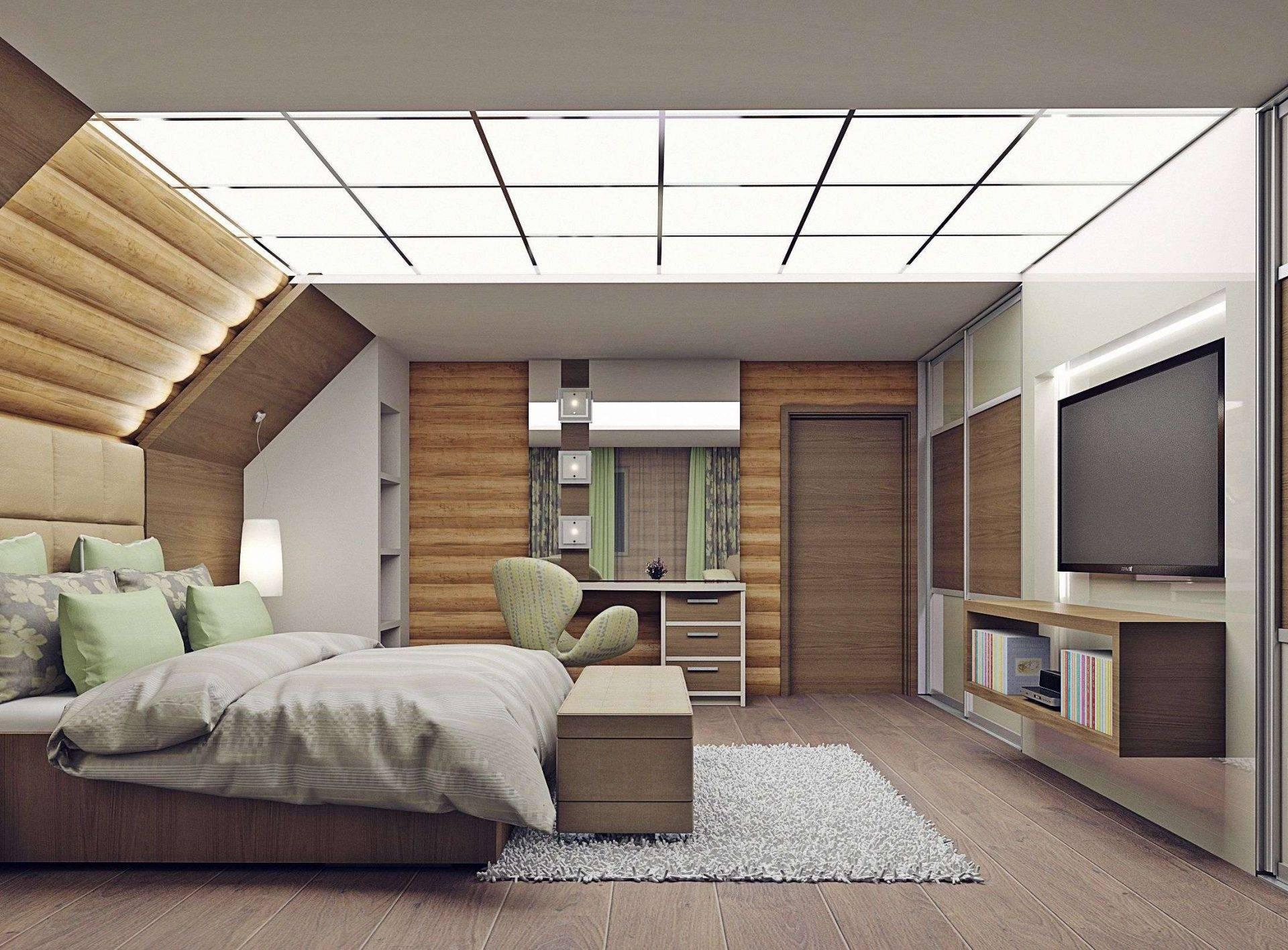Дизайн Спальни на мансарде — Удивительные идеи: 200+ Интерьеров в Современном стиле