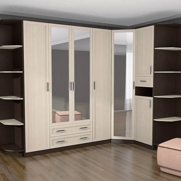 Распашные угловые шкафы (34 фото): г-образный шкаф с двумя дверями, однодверный вариант, модульная мебель для одежды