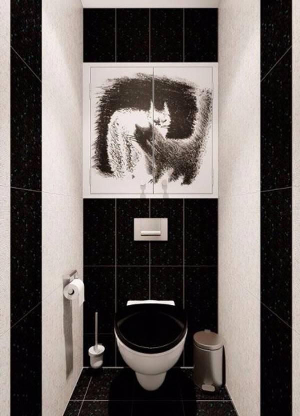Черно-белая ванная комната: 50+ фото, идеи стильного дизайна