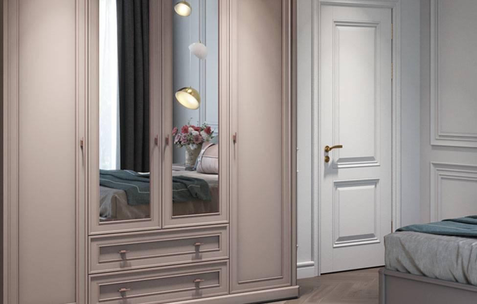 Шкафы в классическом стиле (47 фото): зеркальный шкаф в прихожую, мебель для спальни, классика и неоклассика
