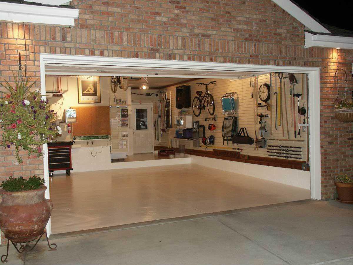 Выбор отделочных материалов для дизайна гаража, интересные планировки интерьера, схемы и размеры