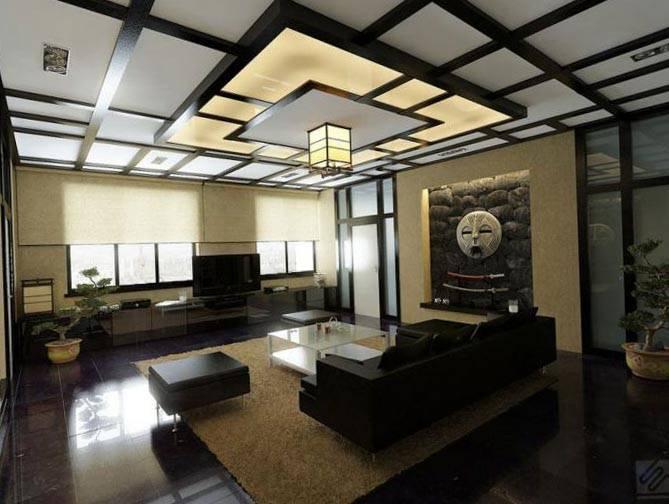 Дизайн потолка из гипсокартона: выбор дизайна и особенности оригинального оформления потолка (150 фото)