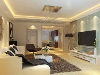 Дизайн гостиной комнаты 25 кв.м.: оформление, зонирование - 75 фото