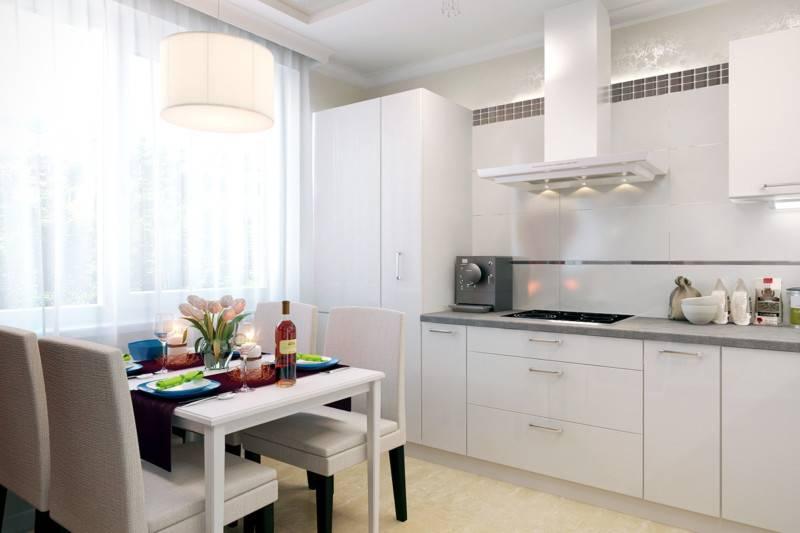 Дизайн кухни 9 кв м в панельном доме (35 фото интерьеров): с окном и балконом
