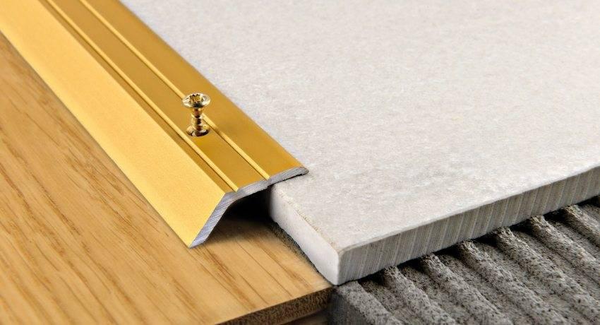 Стык между плиткой и ламинатом: правила комбинирования, пошаговая инструкция стыковки без порожка