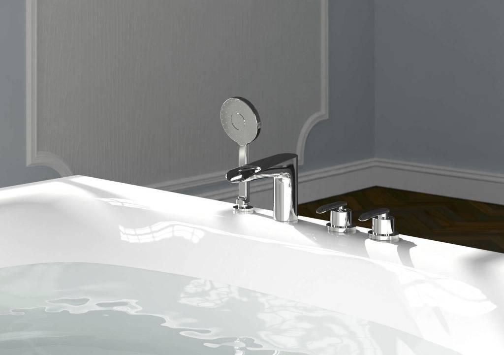 Как выбрать и установить врезной смеситель для акриловой ванны