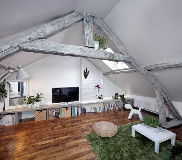 """Потолок с балками - """"прованс"""" и другие стили, в которых применяется такой элемент"""