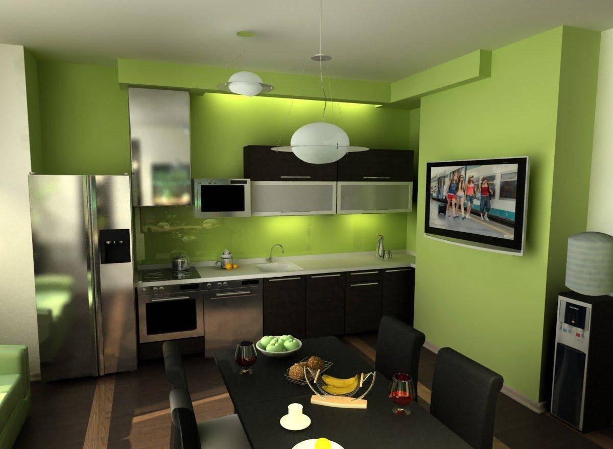 Стоит ли использовать Зеленые обои в интерьере: спальне, кухне, гостинной - ОБзор