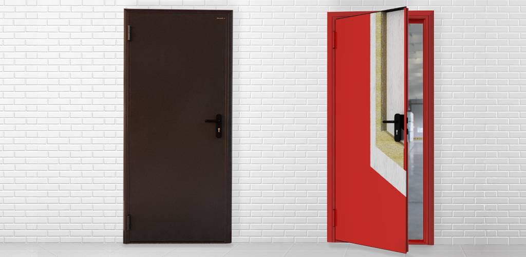 Установка противопожарных дверей, нормы монтажа, где и в каких помещениях они нужны.