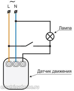 Схема датчика движения: lx01, принципиальная электрическая схема, подключение, правила установки