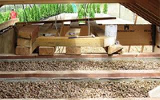 Утепление межэтажного перекрытия по деревянным балкам для первого этажа над подвалом, второго и выше