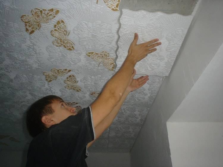 Как сделать потолок в частном доме своими руками