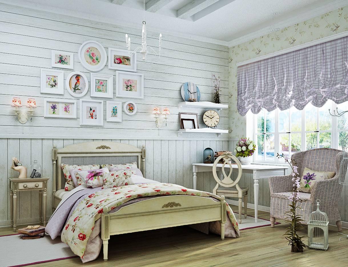Дизайн в стиле прованс - офомление интерьера квартиры, дома, ланшафта на садовом участке, предметы декора, картины, мебель, шторы и др + фото