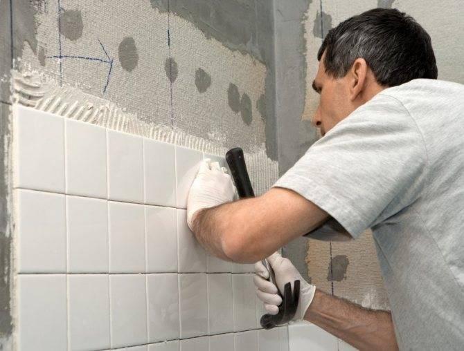 Укладка плитки в ванной своими руками: как положить на пол и стены